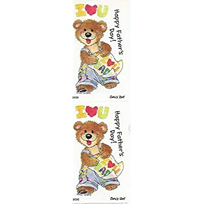 Suzy\'s Zoo Happy Father\'s Day Bear Sticker 7 inches by 2 inches: Arts, Crafts & Sewing [5Bkhe1105434]