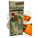 ACHub Reusable Produce Saver Bags - BPA Free Food Saver Green Bags, Keep Fruits and Vegetables Fresh Longer - 20pc XL Produce
