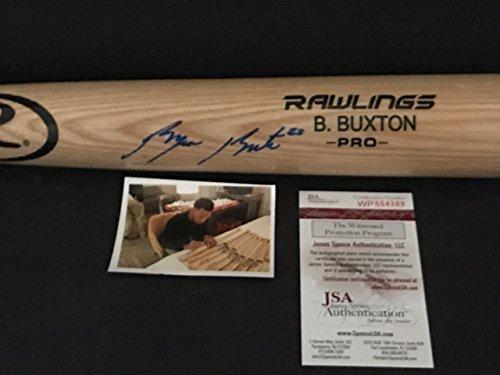 Byron Buxton Minnesota Twins Autographed Signed Blonde Baseball Bat JSA WITNESS COA