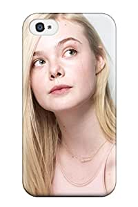 Iphone 4/4s Hard Back With Bumper Silicone Gel Tpu Case Cover Elle Fanning 2014
