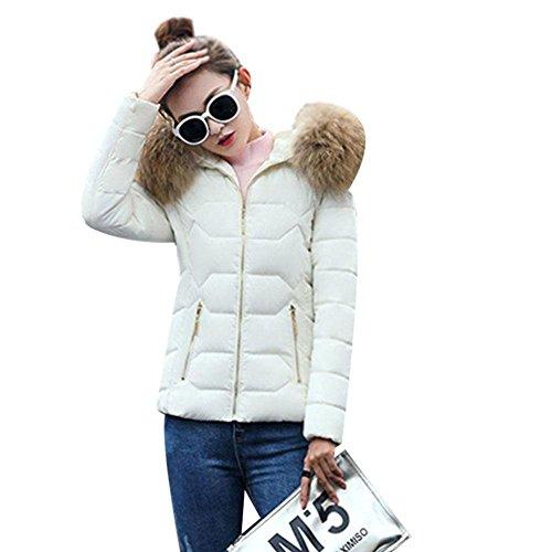 Con Caldo Cotone Imbottito Fit Abbigliamento Cappuccio Babyney Slim Coat Casual Giacche Ispessimento Bianco 85qFxwEZ