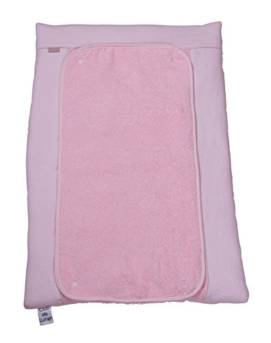 Sábana encimera para el cambiador de algodón rosa.