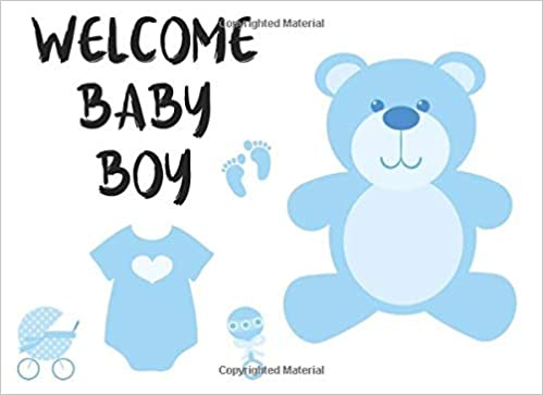 Welcome Baby Boy: Beautiful Baby Shower Guest Book With