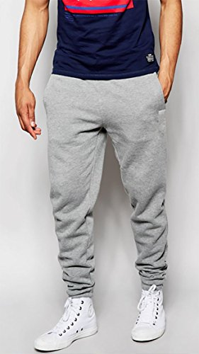 Mens Heavyweight Sweatpants (L, Heather Gray) (Athletic Heavyweight Sweatpants)