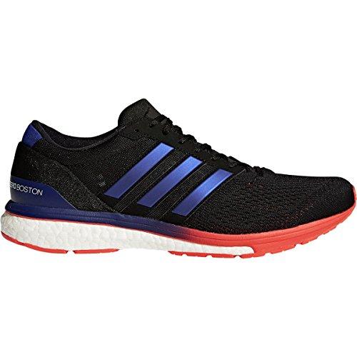 adidas Men's Adizero Boston 6 m Running Shoe, Core Black/Real Purple/Hi-Res Red, 11 M US