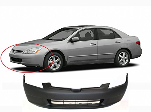 MBI AUTO – 2003 2004 2005 Honda Accord Sedan Front Bumper Cover, HO1000210