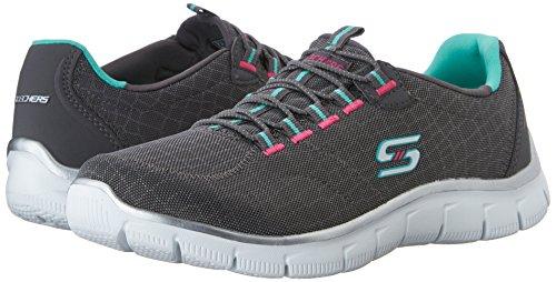 de Aqua Skechers Zapatillas Mujer Deporte Rock Charcoal Empire para Around wI7vIfnq