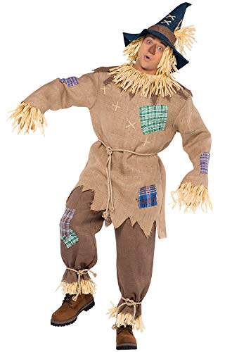 (AMSCAN Mr. Scarecrow Halloween Costume for Men, Standard, with Included)