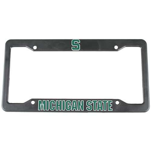 Logo Products Michigan State Spartans Plastic License Plate Frame