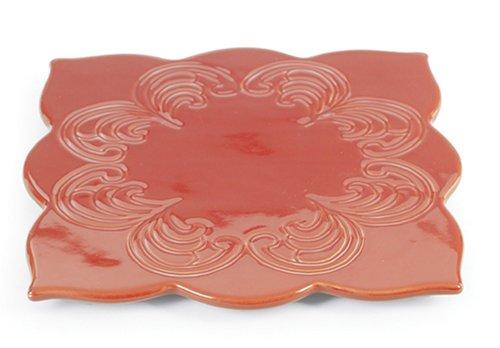 UPC 088818043105, Chantal Talavera Collection 7 1/4 Inch Four Round Trivet, Glossy Cinnabar.