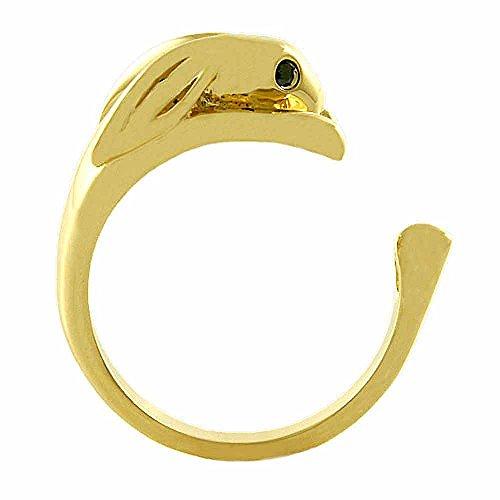 Ellenviva Enhanced Bunny Rabbit Animal Wrap Ring Gold-Plated Shiny Gold Tone- Size 7 ()