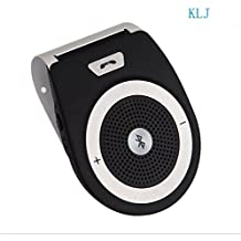 Wireless Car Speaker Bluetooth Receiver Sun Visor Speakerphone Car Stereo Player Hands-free Car Kit for iPhone X/ iPhone 8/Plus Samsung Support