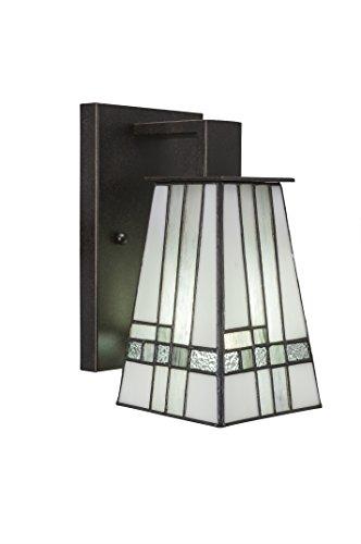 Toltec Lighting Apollo 3 Light Wall Sconce Square New Deco Tiffany Glass ()
