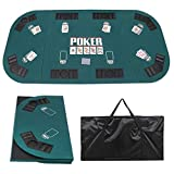 "Best Poker Table Tops - Smartxchoices 71""x 36"" Folding Poker Table Top 8 Review"