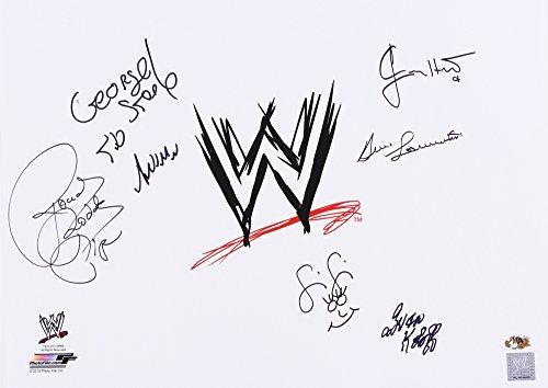 WWE MULTI SIGNED WWF WRESTLING 16x20 SAMMARTINO PIPER STEELE HART KOLOFF & FIFI
