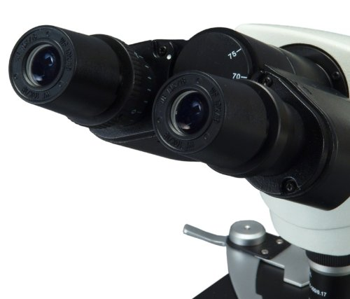 OMAX 40X-2000X LED Binocular Compound Microscope with 30 Degree Siedentopf Viewing Head and Reversed Nosepiece