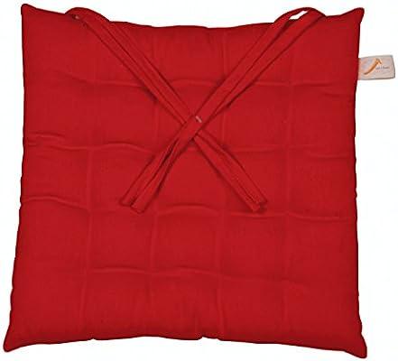Galileo Casa Cuscino per Sedia, 40 x 40 cm, Cotone, Rosso Scuro