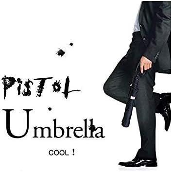 Long CUIHUA Parapluie en Forme de Pistolet Parapluie Automatique Style Pistolet Hommes et Femmes Parapluie Coupe-Vent Automatique Style r/étro Court Paragraphe
