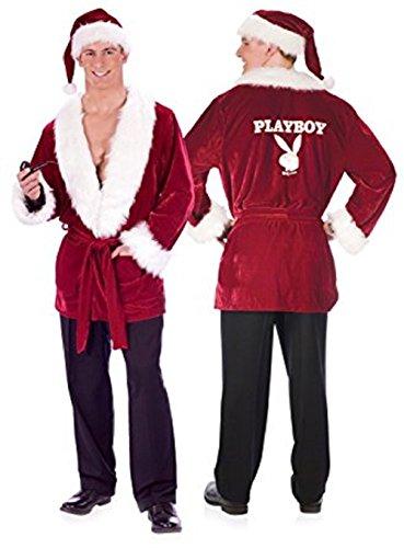 Hugh Hefner costume Hef's Holiday Christmas Red Smoking Jacket XL Pipe (Hugh Hefner Costume Hat)