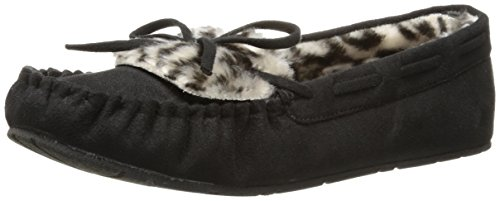 UNIONBAY Women's Yum Cuff Moccasin, Black, 11 M US