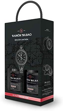 Estuche de Edición Limitada Ramón Bilbao con 2 botellas de 750 ml cada una.,100% Tempranillo que fer