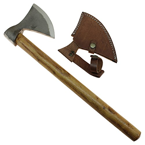 Medieval Huntsman's Axe Steel Bearded Viking Hatchet Handmade Camping Tool