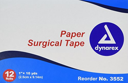 Dynarex Paper Surgical Tape, 1 Inch X 10 Yards, 12 Count