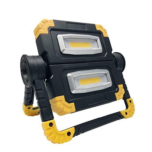 WOERD Led Baustrahler Akku, LED Flutlicht Tragbare, Außenleuchte 360° Drehbare Strahler Wasserdicht IP44…