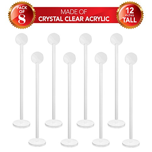 NEW! Set of 8 Clear Acrylic Card Holders |12