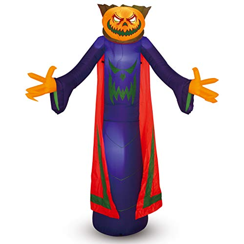 Joiedomi Halloween Pumpkin Wizard Inflatable for Halloween Yard Decor Outdoor Decoratio (8 ft Tall) ()