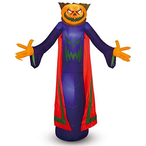 Joiedomi Halloween Pumpkin Wizard Inflatable for Halloween Yard Decor Outdoor Decoratio (8 ft Tall)