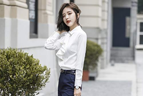 Blazer Rojeam De Negocios Pantalón blanco Chaleco Conjunto Mujer Traje Slim Oficina Trabajo Trajes La Falda Fit Camisa Camisa qqPwz0x5
