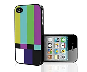 Old Television Color Test Pattern Art Hard Snap on Phone Case (iPhone 4/4s)