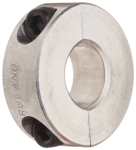 Ruland SP-18-A Two-Piece Clamping Shaft Collar, Aluminum, 1.125'' Bore, 1 7/8'' OD, 1/2'' Width (Pack of 2) by Ruland