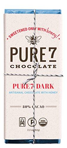 Pure7, Honey Sweetened Dark Chocolate Bar, Paleo (2 oz.)