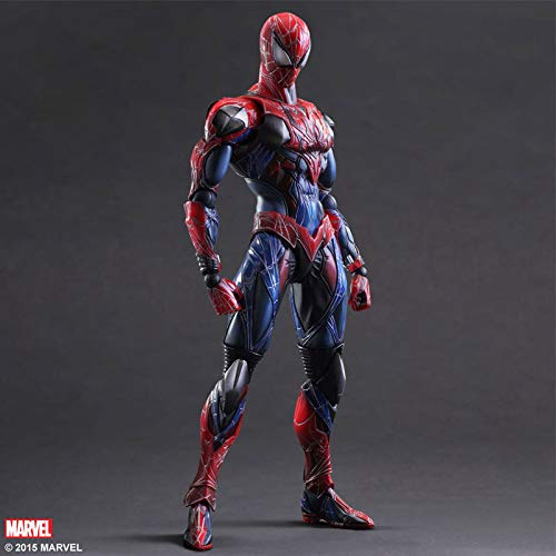ML.PRODUCTS Spiderman Action Figure Play Arts Kai Spider-Man PVC Figure Play Arts Spider Man Peter Benjamin Parker Model - - Man Model Spider
