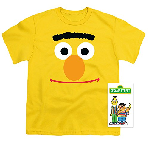 (Youth Sesame Street Bert Face T Shirt for Boys (Large))
