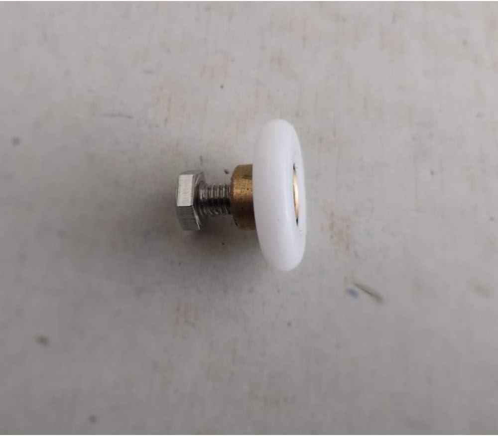 OSJDFD Diámetro 19 mm 23 mm 25 mm 27 mm Accesorios para Ruedas de Cuarto de baño Baño Puerta corredera de Vidrio rodamiento roldana/Corredor