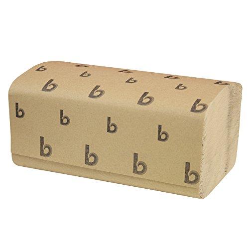 (Boardwalk 6210 Singlefold Paper Towels, Natural, 9 x 9 9/20, 250/Pack, 16 Packs/Carton)