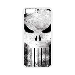 iPhone 6 Plus 5.5 Inch Cell Phone Case White Punisher Long Skull LSO7710064