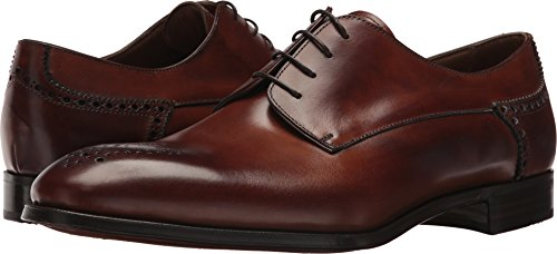 Gravati Men's Plain Toe 4 Eyelet Blucher Caramel 8 M US (Toe Shoes Mens Plain Blucher)