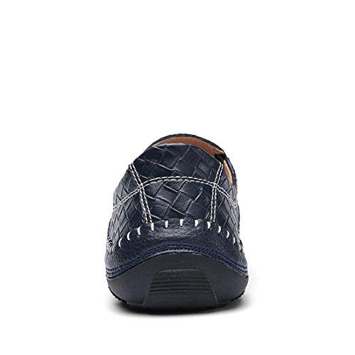 Tda Mens Summer Penny Fashion Stitching Mocassini Sintetici Scarpe Basse Blu
