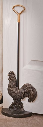 Door Stop - French Country Rooster Door Stop - Rooster Doorstop - Bronze Finish by KensingtonRow Home Decor Collection