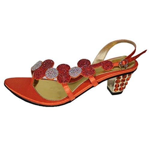 Oro Argento Orange Evening Per Damigella Rosa 4 Mizra amp; Arancione Da Matrimonio Motivo Blu 11 sandali Colore Verde D'onore Donna W qRO7wt8w1