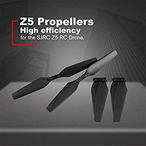 YUIO® 4 Pcs/Set Spare Parts Propeller Blade (2CW+2CCW) for SJRC Z5 RC Quadcopter Drone Toys for Children Drone…