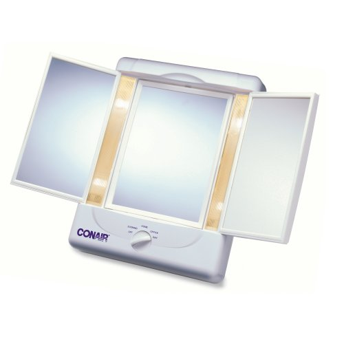 conair 3 panel lighted mirror - 3