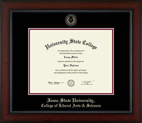 Iowa State University College of Liberal Arts & Sciences - Officially Licensed - Gold Embossed Diploma Frame - Diploma Size 11