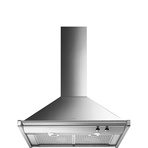 30' Convection Gas Range - Smeg 30'' ''Opera'' Stainless Steel Wall Hood, 600 CMF, Halogen Light Circluating