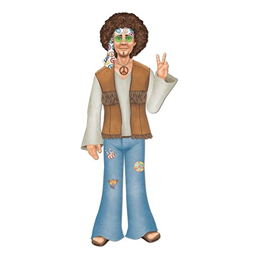 Jointed Male Hippie Party Accessory (1 count) (1/Pkg) (60s Themed Party)