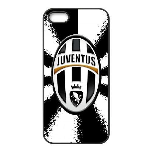 W3B88 Juventus Logo M1B7ET coque iPhone 5 5s cellulaire cas de téléphone couvercle coque noire KJ1ESR6XV